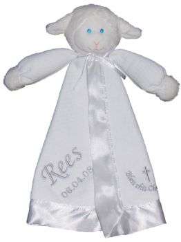 Christening Lamb Comfort Blanket